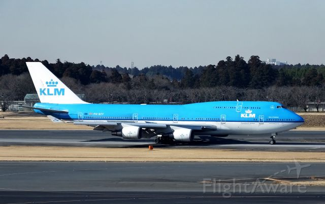 Boeing 747-400 (PH-BFF) - Taxing at NRT.(2016/02/17)