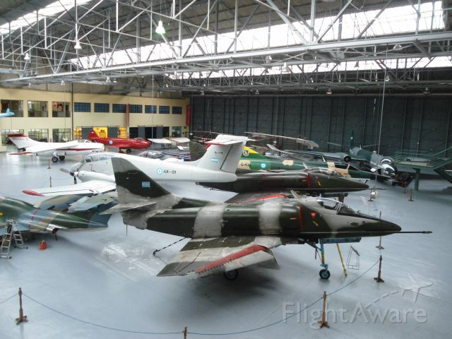 SINGAPORE TA-4 Super Skyhawk — - front: a Douglas A-4C Skyhawk; at Argentina air force museum
