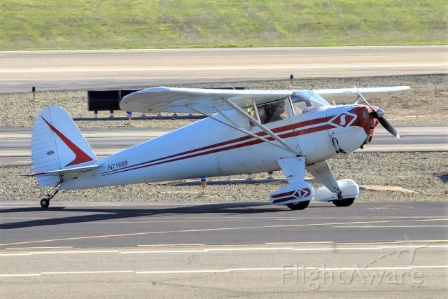 TEMCO Silvaire (N71688) - Luscombe 8A at Livermore Municipal Airport (CA). March 2021.