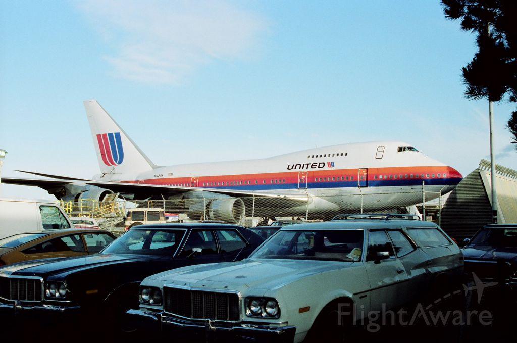 BOEING 747SP (N148UA) - KSFO - UAL 747SP stored on the ramp.