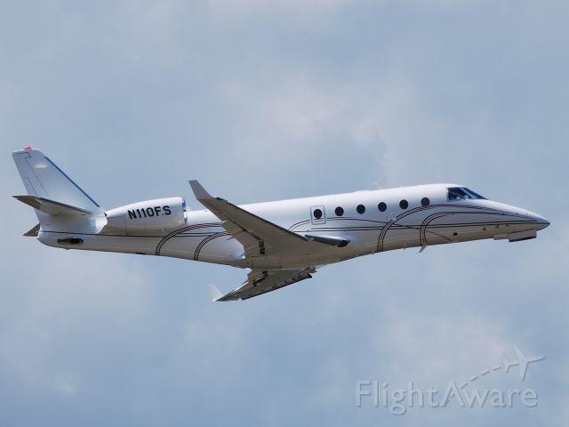 IAI Gulfstream G150 (N110FS) - TRINITY AVIATION CHARTERS LLC (Felix Sabates) departing runway 02 at KJQF - 4/21/10