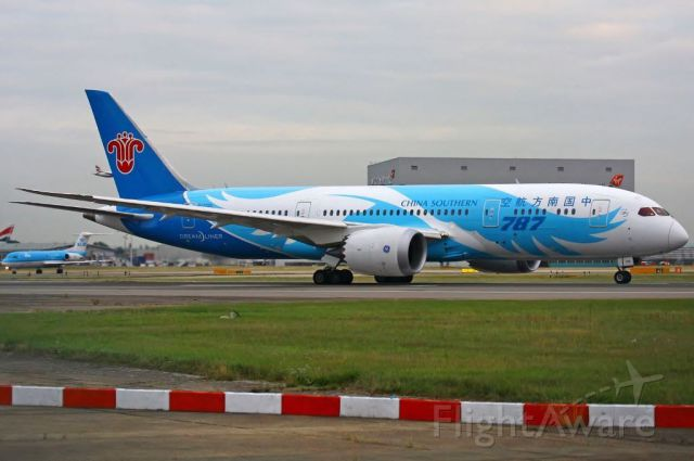 Boeing 787-8 (B-2725) - China Southern have now started using their Dreamliners on international ops.
