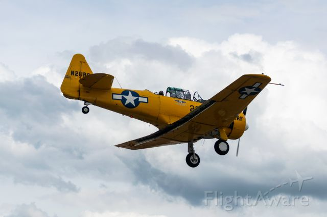 North American T-6 Texan (N211RF) - Landing at runway 14 after the Archbishop's Mission Hope Flight