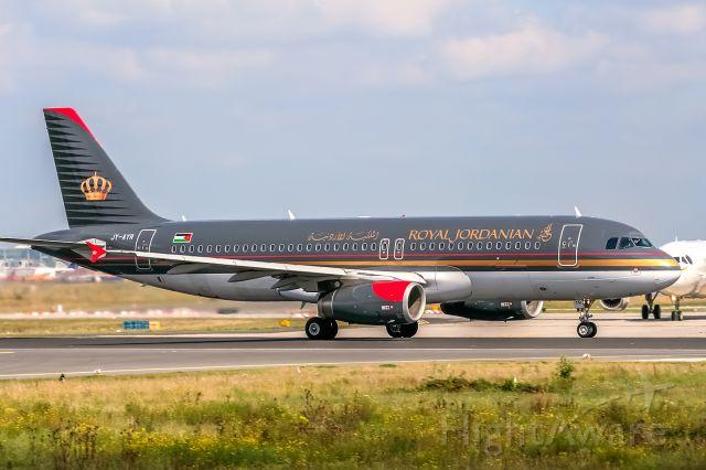 Airbus A320 (JY-AYR) - JY-AYR Royal Jordanian Airbus A320-232 @ Frankfurt - Rhein-Main International (FRA / EDDF) / 27.08.2014