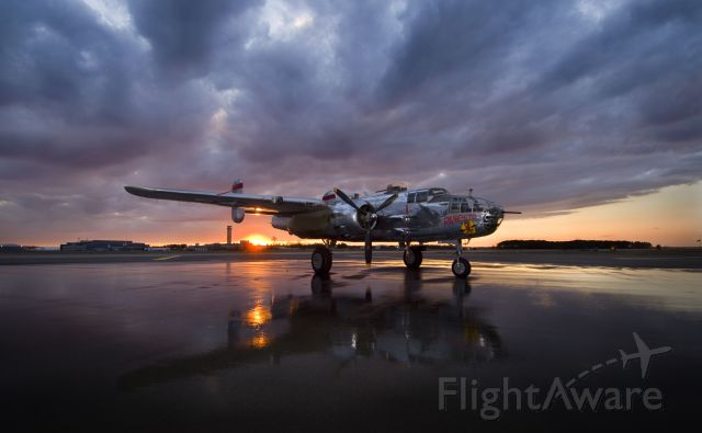 North American TB-25 Mitchell (N9079Z) - Sunset at the USN Test PIlot School