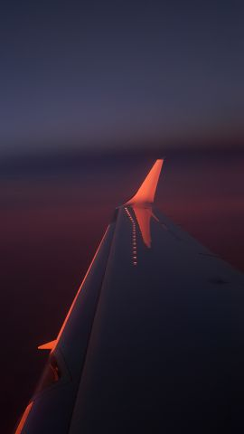 Raytheon Hawker 800 (N66ZB) - Sunset on a flight to Las Vegas