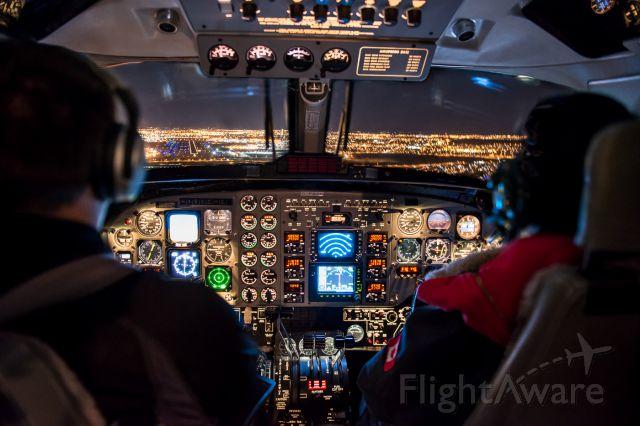 Beechcraft Super King Air 200 (BXH151) - Mid-flight from Medicine Hat to Calgary on a medevac flight.
