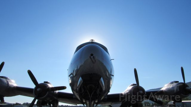 Douglas C-54 Skymaster (N500EJ) - Early morning shot.