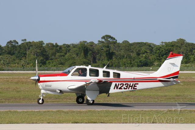 Beechcraft Bonanza (36) (N23HE) - Taxiing for Takeoff