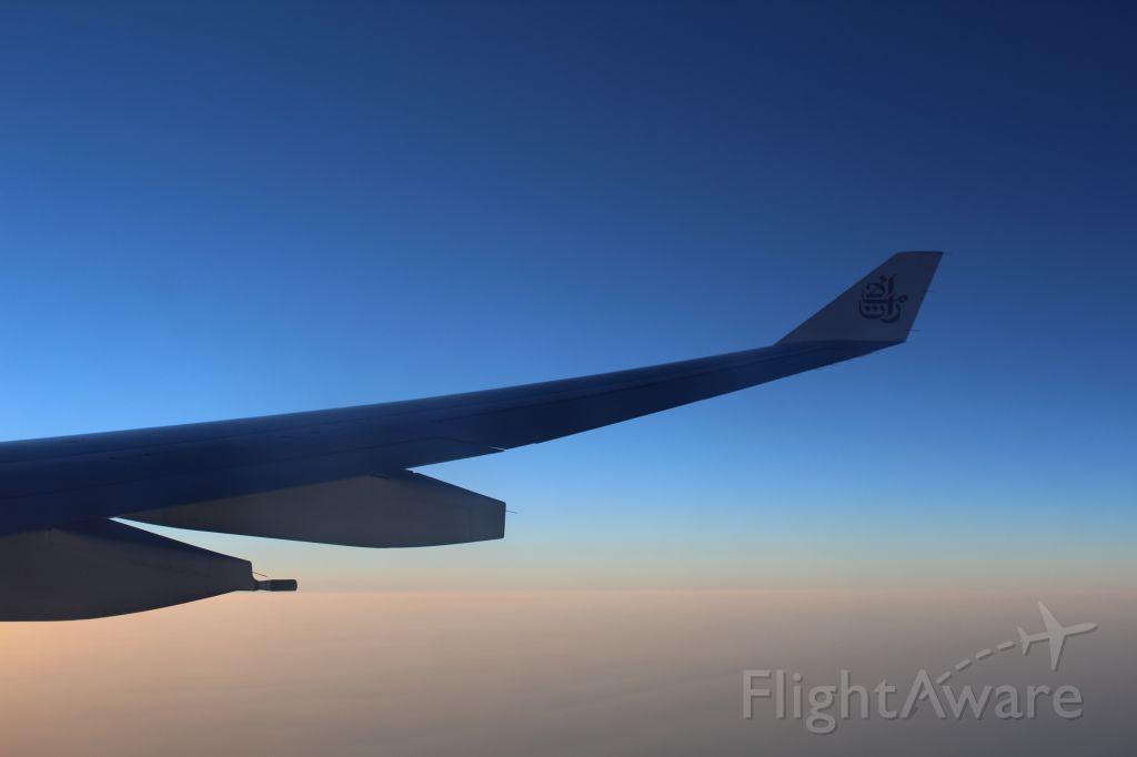 Airbus A330-300 (A6-EKR) - prapering for Landing in Peshawar