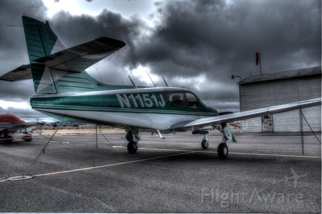 Rockwell Commander 114 (N1151J) - Cloudy morning at Oakland Airport