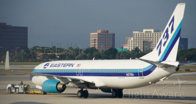 Boeing 737-800 (N277EA) - This throwback to another era transports folks between Miami and Havana these days.