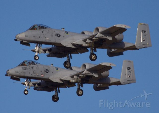 """Fairchild-Republic Thunderbolt 2 (80-0171) - A pair of A-10 Thunderbolt IIs (or more commonly called the Warthog) from 47th Fighter Squadron return home to Davis-Monthan AFB after an afternoon sortie (please view in """"full"""" for highest image quality)"""