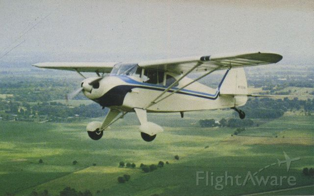 Piper PA-20 Pacer (N7025K) - scanned from postcard