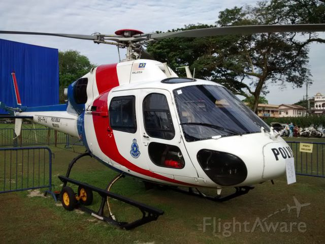 9M-PHJ — - The Royal Malaysia Police helicopter on display at Central Padang.