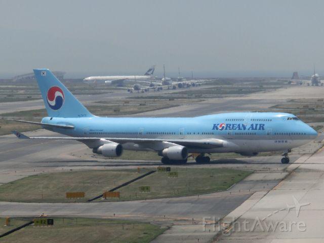 Boeing 747-400 (HL7473) - A330のシップチェンジとして飛来しました。