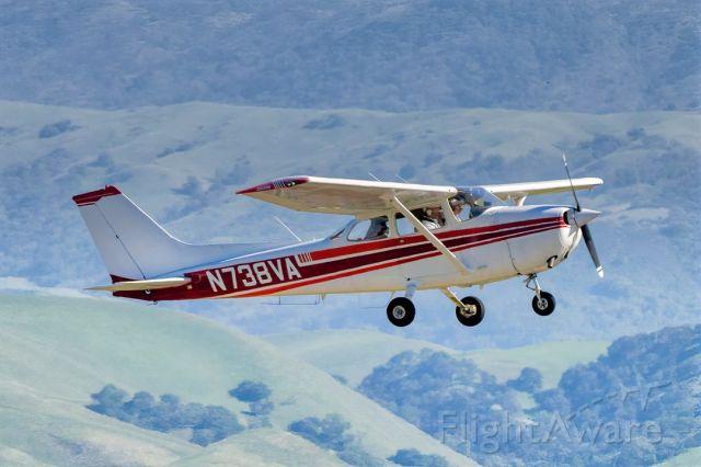 Cessna Skyhawk (N738VA) - Cessna 172N over Livermore Municipal Airport (CA). April 2021.