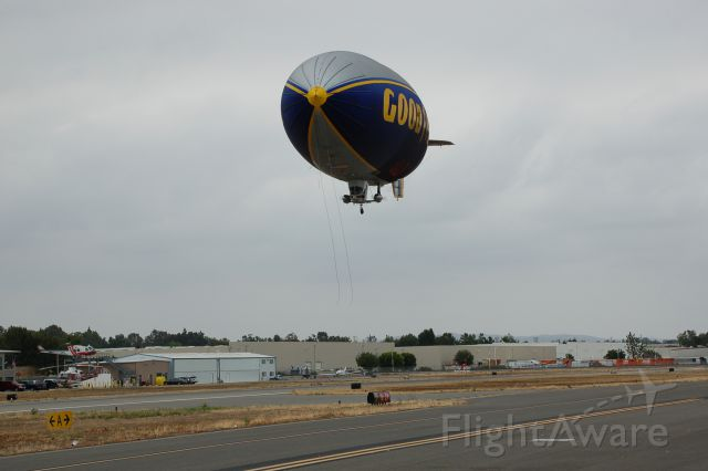 Cessna Executive Skyknight (N10A) - Goodyear Blimp does a low pass at Fullerton Airport airshow May 9, 2015.