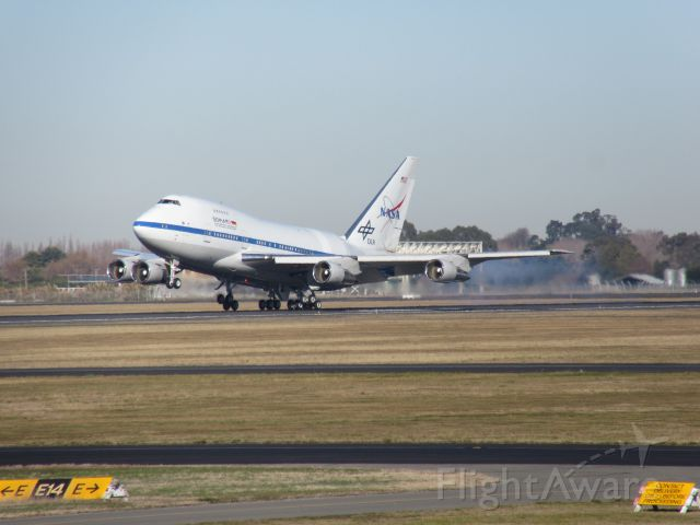 BOEING 747SP (N747NA) - NASA touch down at Christchurch Intl Airport.