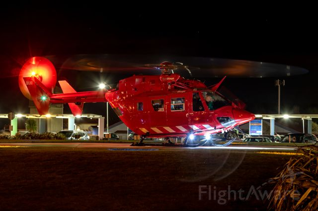 NUSANTARA NBK-117 (ZK-IME) - Seconds before liftoff from the Southland DHB heliport.