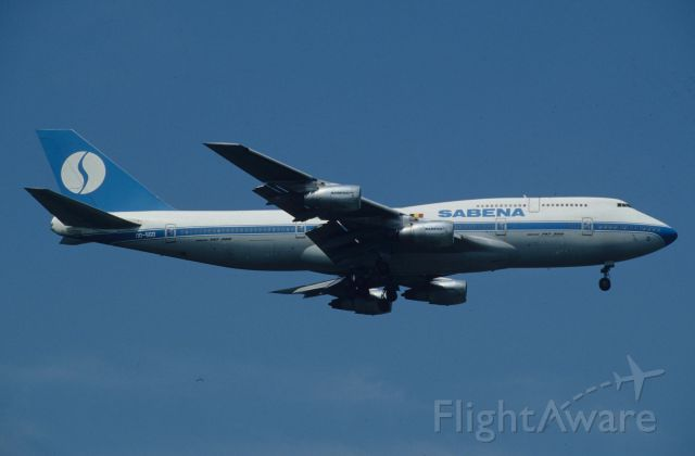 BOEING 747-300 (OO-SGD) - Final Approach to Narita Intl Airport Rwy34L on 1996/06/29