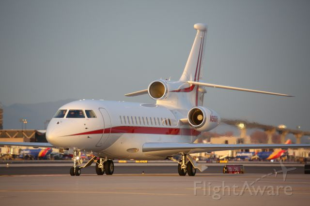 Dassault Falcon 7X (N966H) - This is the Honeywell Dassault Falcon 7X as spotted from the South Cargo Ramp at Phoenix Sky Harbor in March of 2019.