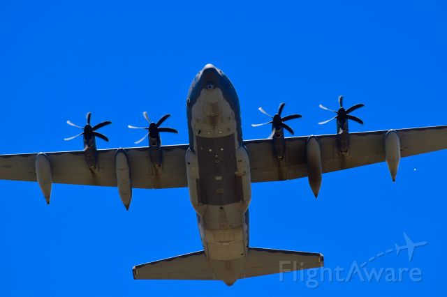 Lockheed C-130 Hercules — - C130 doing touch and goes at Roswell.
