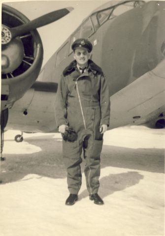 — — - World War Two Canadian pilot all suited up for some Winter weather
