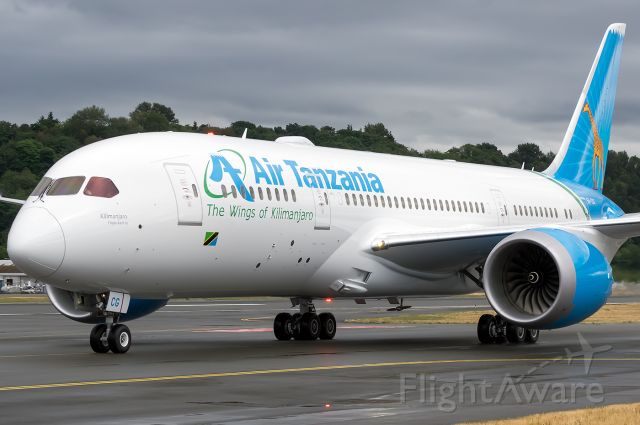 Boeing 787-8 (5H-TCG) - The first and only 787 for Air Tanzania taxis back to Boeing's test ramp at BFI. Full Quality Photo --> https://www.jetphotos.com/photo/9016861
