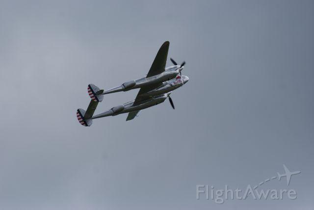 Lockheed P-38 Lightning (N25Y) - The Red Bull Lightning at Flying Legends.... Duxford July 12