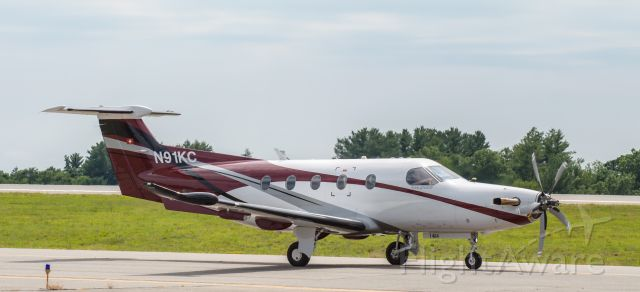 Pilatus PC-12 (N91KC) - On her way back to the mx hanger after a few run-ups<br />--------------------------------------------<br />Shot with a Nikon D3200 w/ Nikkor 70-300mm<br />Best viewed in Full Size