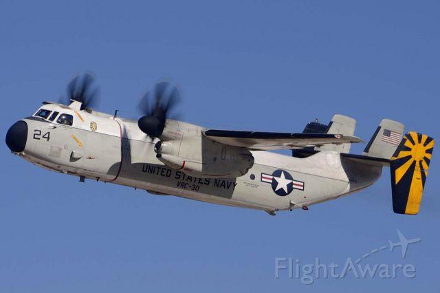 Grumman C-2 Greyhound (16-2173) - Grumman C-2A BuNo 162173 Modex 24 of VRC-30 taking off from Phoenix-Mesa Gateway Airport on March 1, 2013.