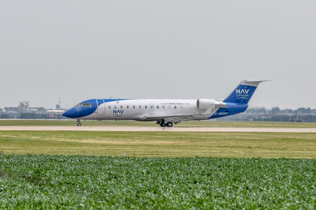 Canadair Regional Jet CRJ-200 (C-GNVC) - Nav Canada Instrument Landing System Testing at the Grande Prairie Airport