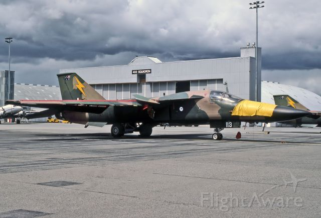 A8113 — - AUSTRALIA - AIR FORCE - GENERAL DYNAMICS F-111C AARDVARK - REG : A8-113 (CN A1-158) - EDINBURGH RAAF BASE ADELAIDE SA. AUSTRALIA - YPED 26/10/1986