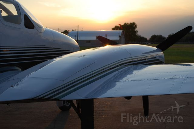 Cessna Chancellor (N8195Q) - Another great sunset shot.