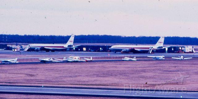 Boeing 707-100 — - Two TWA Boeing 707