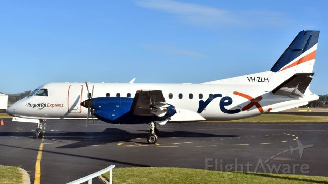 Saab 340 (VH-ZLH) - Regional Express SAAB 340B VH-ZLH (cn 376). Wynyard Airport Tasmania 19 September 2019.