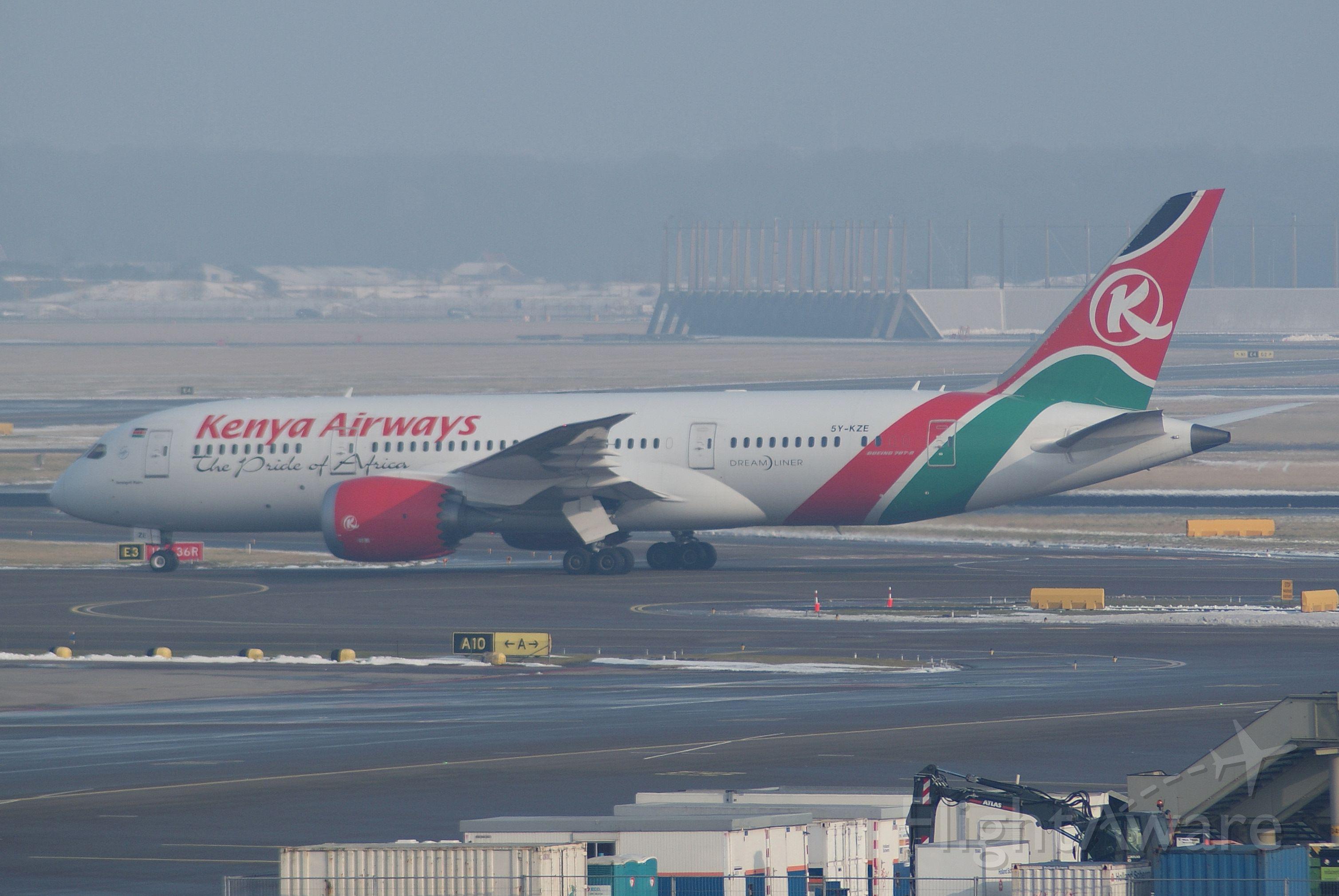 Boeing 787-8 (5Y-KZE) - Kenya Airways B787-8 cn36042