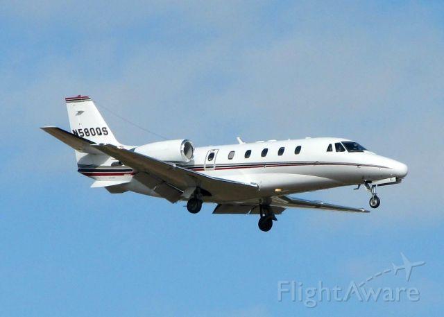Cessna Citation Excel/XLS (N580QS) - Landing on Rwy 14 at Shreveport Regional.