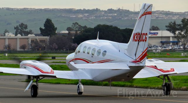 """Cessna Chancellor (N300CG) - Taxing out for the last time ever at Reid Hillview. <a rel=""""nofollow"""" href=""""http://flightaware.com/live/flight/N300CG/history/20160213/0130Z/KRHV/KSNA"""">https://flightaware.com/live/flight/N300CG/history/20160213/0130Z/KRHV/KSNA</a>"""