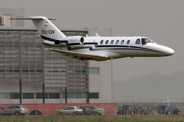 """Cessna Citation CJ2+ (OO-CIV) - Air Service Liege. More of me at:  http://www.sgmst.nl/photo-portal/photo-portal.htm ...and search for """"photographer"""" Peter Maassen."""