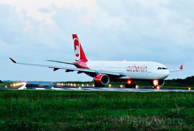 Airbus A330-200 (D-ABXC) - Air Berlin A332 Taxy To the Runway 08 At MDPP airport!