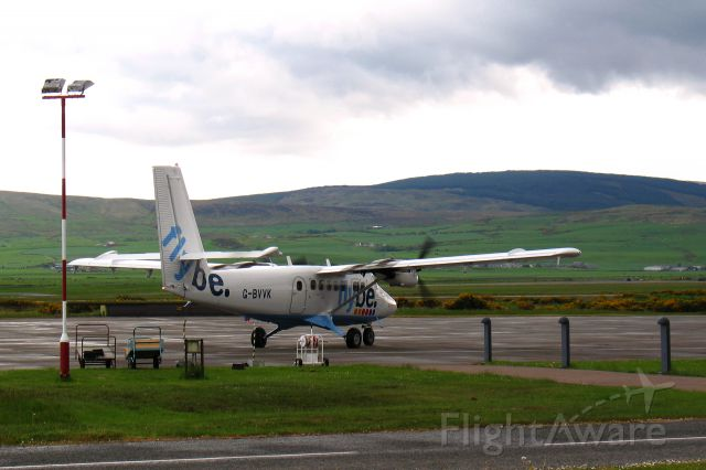 De Havilland Canada Twin Otter (G-BVVK) - Flybe De Havilland Canada DHC-6-300 Twin Otter G-BVVK in Campbeltow, Scotland