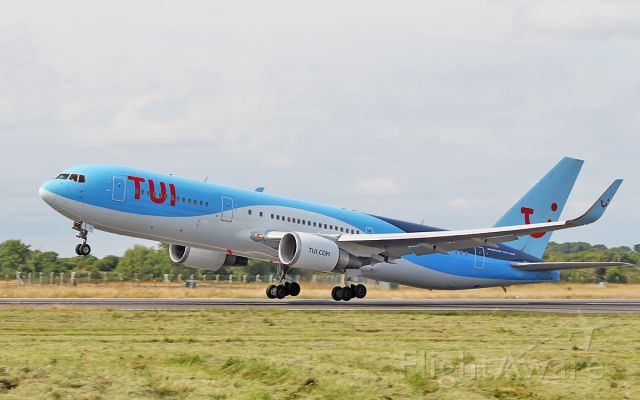 BOEING 767-300 (PH-OYI) - tui b767-304er ph-oyi dep shannon for punta cana after a fuel stop from poznan 5/7/18.