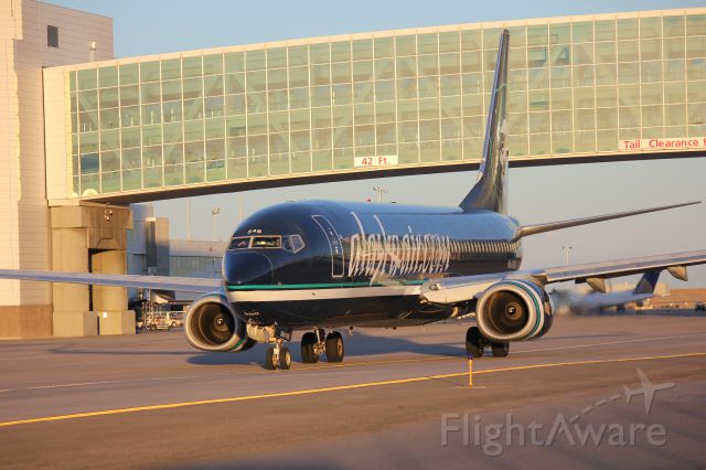 Boeing 737-800 (N548AS) - Taxiing out for take off at DIA.