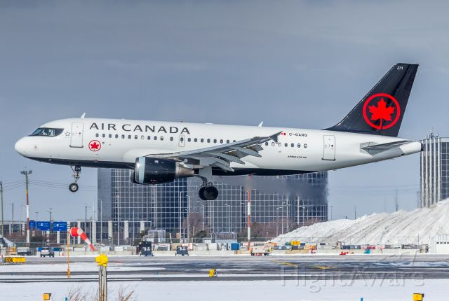 Airbus A319 (C-GARG) - So far the only new livery mini-bus in the fleet!