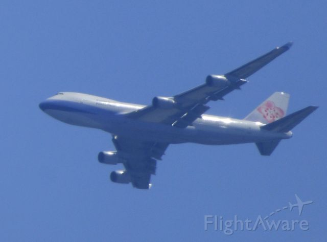 Boeing 747-400 (B-18719) - This is a China Airlines Cargo going past Monmouth Co., NJ minutes before landing.