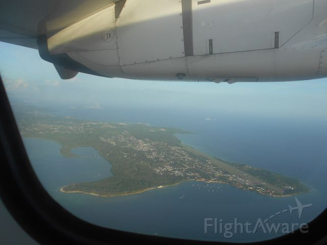 Aerospatiale ATR-72-600 — - Flying over Tobago. This view is great, but I had a tiny digital camera which didn't produce the best shots. I really need to go back there with my current camera and take much better clarity shots.
