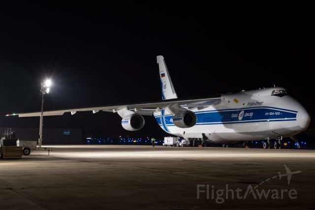 Antonov An-124 Ruslan (RA-82077) - Stopping by PSM after supporting the relief efforts in Puerto Rico.