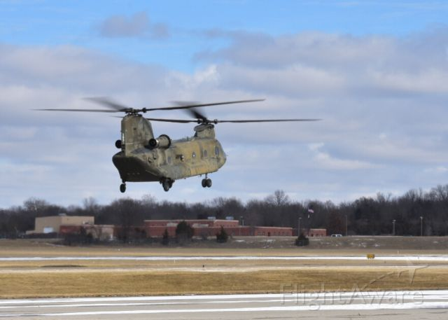 ASAP Chinook — - A CH-47 Chinook lifting off the ramp